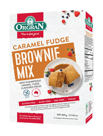 Orgran Mix per Brownie al Caramello